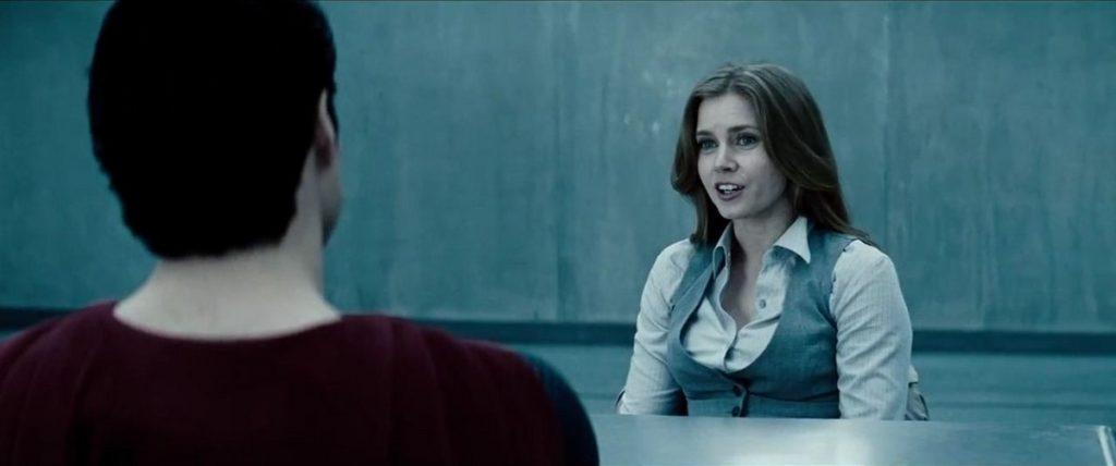 سوپرمن و لوئیس لین در فیلم Man of Steel