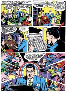 لو رفتن هویت واقعی سوپرمن در شماره ۲۰ کمیک Superman (برای دیدن سایز کامل روی تصویر کلیک کنید)