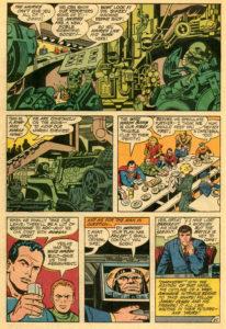 حضور کوتاه دارکساید در شماره ۱۳۴ کمیک Superman's Pal Jimmy Olsen (برای دیدن سایز کامل روی تصویر کلیک کنید)