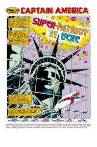 جان واکر در نقش سوپر پاتریوت در شماره ۳۲۳ کمیک Captain America (برای دیدن سایز کامل روی تصویر کلیک کنید)