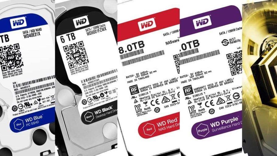 هارد وسترن دیجیتال - تفاوت رنگ بندی