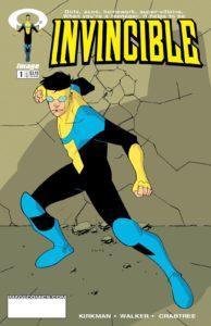 کاور شماره ۱ کمیک Invincible (برای دیدن سایز کامل روی تصویر کلیک کنید)