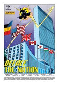 حمله فلگ اسمشر به پرچمهای سازمان ملل متحد در شماره ۳۱۲ کمیک Captain America (برای دیدن سایز کامل روی تصویر کلیک کنید)