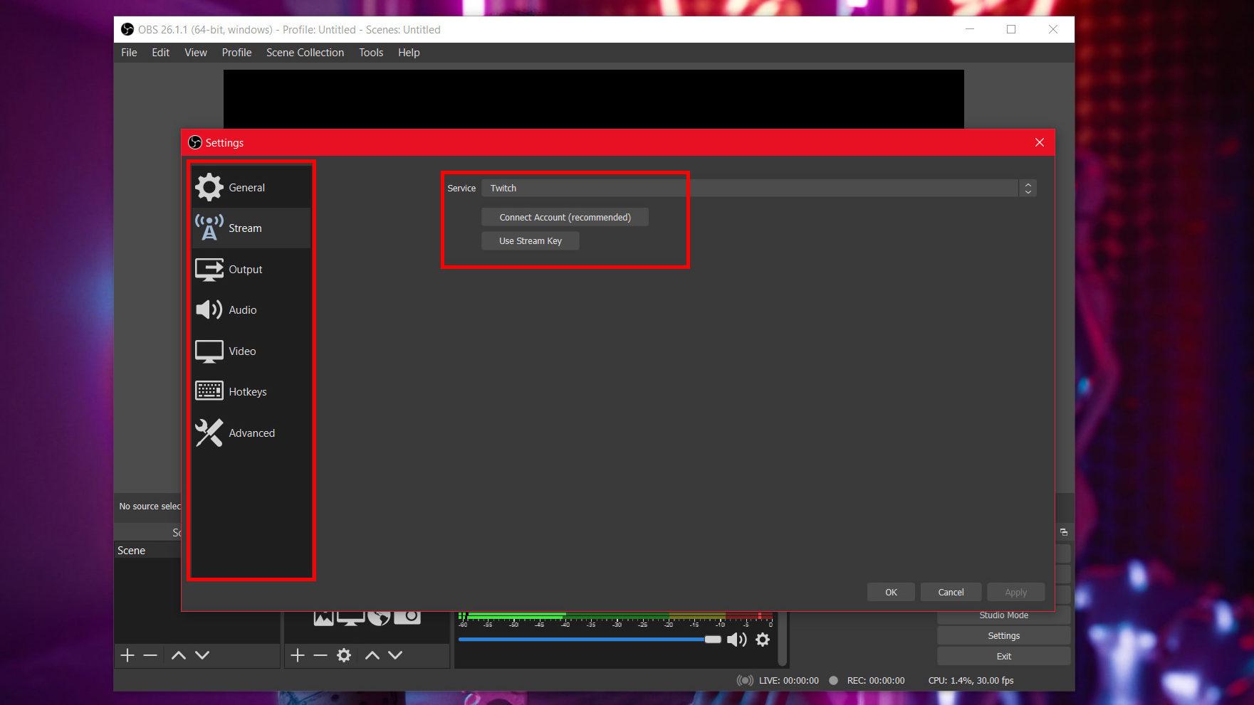استریم در یوتیوب به وسیله نرم افزار OBS Studio