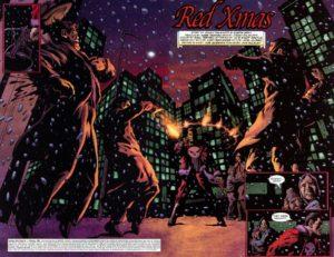 بابانوئل قاتل در کمیک Punisher: Red X-Mas (برای دیدن سایز کامل روی تصویر کلیک کنید)