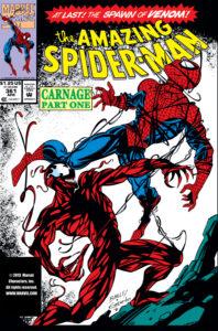 کارنیج روی کاور شماره ۳۶۱ کمیک The Amazing Spider-Man (برای دیدن سایز کامل روی تصویر کلیک کنید)