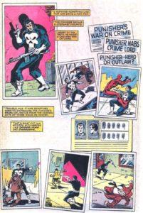 از مجموعه فتلهای پانیشر در هنگام مسمومیت در شماره ۸۳ کمیک Peter Parker, The Spectacular Spider-Man (برای دیدن سایز کامل روی تصویر کلیک کنید)