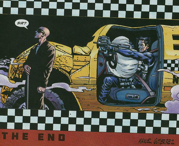 به قتل رساندن خدمتکار نابینای مدالیون در شماره ۱۲ کمیک The Punisher