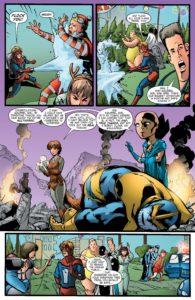 شکست تانوس در در کمیک Great Lakes Avengers Christmas Special(برای دیدن سایز کامل روی تصویر کلیک کنید)