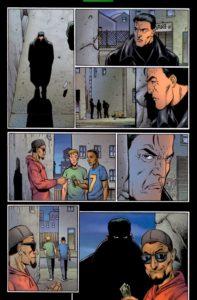 قتل به جرم فروش مواد مخدر در شماره ۷ کمیک The Punisher (برای دیدن سایز کامل روی تصویر کلیک کنید)