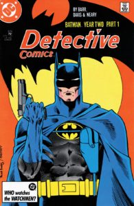 کاور شماره ۵۷۵ کمیک Detective Comics (برای دیدن سایز کامل روی تصویر کلیک کنید)