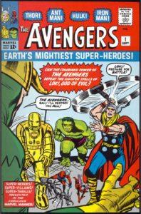 کاور شماره ۱ کمیک Avengers (برای دیدن سایز کامل روی تصویر کلیک کنید)