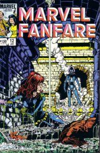 آیرون میدن روی کاور شماره ۱۲ کمیک Marvel Fanfare (برای دیدن سایز کامل روی تصویر کلیک کنید)