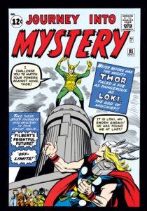 لوکی روی کاور شماره ۸۵ کمیک Journey into Mystery (برای دیدن سایز کامل روی تصویر کلیک کنید)