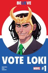 کاور شماره ۱ کمیک Vote Loki (برای دیدن سایز کامل روی تصویر کلیک کنید)