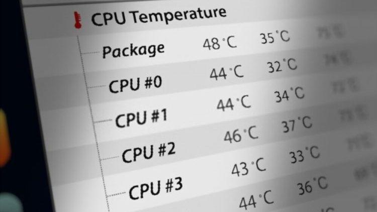 دمای پردازنده مرکزی