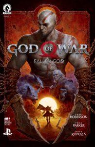 کاور شماره ۱ کمیک God of War: Fallen God (برای دیدن سایز کامل روی تصویر کلیک کنید)