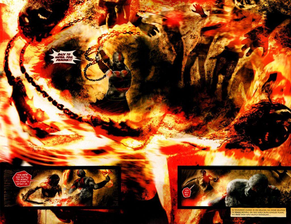 یک صفحه از سری ۲۰۱۰ کمیک God of War