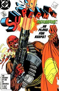 بلاداسپورت روی کاور شماره ۴ کمیک Superman (برای دیدن سایز کامل روی تصویر کلیک کنید)
