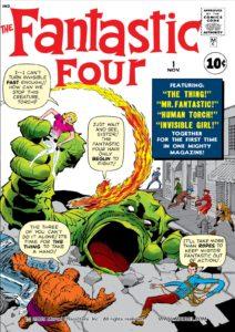کاور شماره ۱ کمیک Fantastic Four (برای دیدن سایز کامل روی تصویر کلیک کنید)
