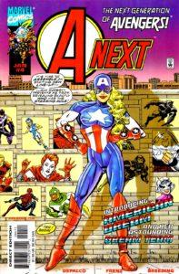 رویای آمریکایی روی کاور شماره ۴ کمیک A-Next (برای دیدن سایز کامل روی تصویر کلیک کنید)