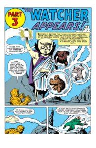 واچر در شماره ۱۳ کمیک Fantastic Four (برای دیدن سایز کامل روی تصویر کلیک کنید)