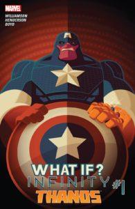 کاور کمیک What If? Infinity - Thanos (برای دیدن سایز کامل روی تصویر کلیک کنید)