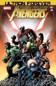کاپیتان آمریکای دنیل کیج روی کاور شماره ۱ کمیک Avengers: Ultron Forever (برای دیدن سایز کامل روی تصویر کلیک کنید)