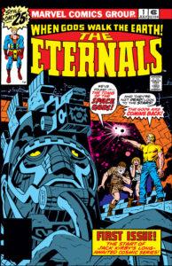 کاور شماره ۱ کمیک The Eternals (برای دیدن سایز کامل روی تصویر کلیک کنید)