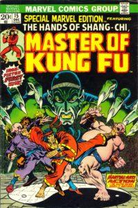 شانگ چی روی کاور شماره ۱۵ کمیک Special Marvel Edition (برای دیدن سایز کامل روی تصویر کلیک کنید)