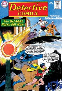پولکا دات من روی کاور شماره ۳۰۰ کمیک Detective Comics (برای دیدن سایز کامل روی تصویر کلیک کنید)