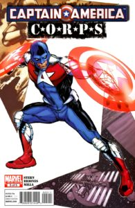 کوماندر ای روی کاور شماره ۵ کمیک Captain America Corps (برای دیدن سایز کامل روی تصویر کلیک کنید)