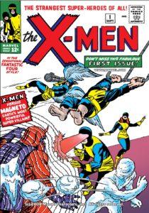 کاور شماره ۱ کمیک X-Men (برای دیدن سایز کامل روی تصویر کلیک کنید)