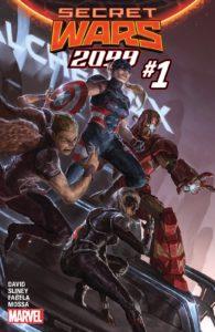 کاپیتان آمریکای روبرتا مندز روی کاور شماره ۱ کمیک Secret Wars 2099 (برای دیدن سایز کامل روی تصویر کلیک کنید)