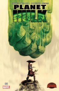 کاپیتان گلادیاتور روی کاور شماره ۱ کمیک Planet Hulk (برای دیدن سایز کامل روی تصویر کلیک کنید)