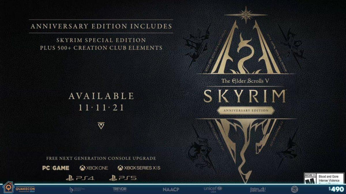 بازی Skyrim Anniversary Edition معرفی شد