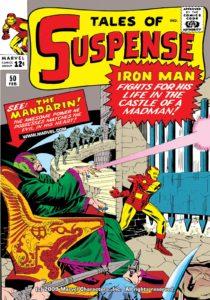 ماندارین روی کاور شماره ۵۰ کمیک Tales of Suspense (برای دیدن سایز کامل روی تصویر کلیک کنید)