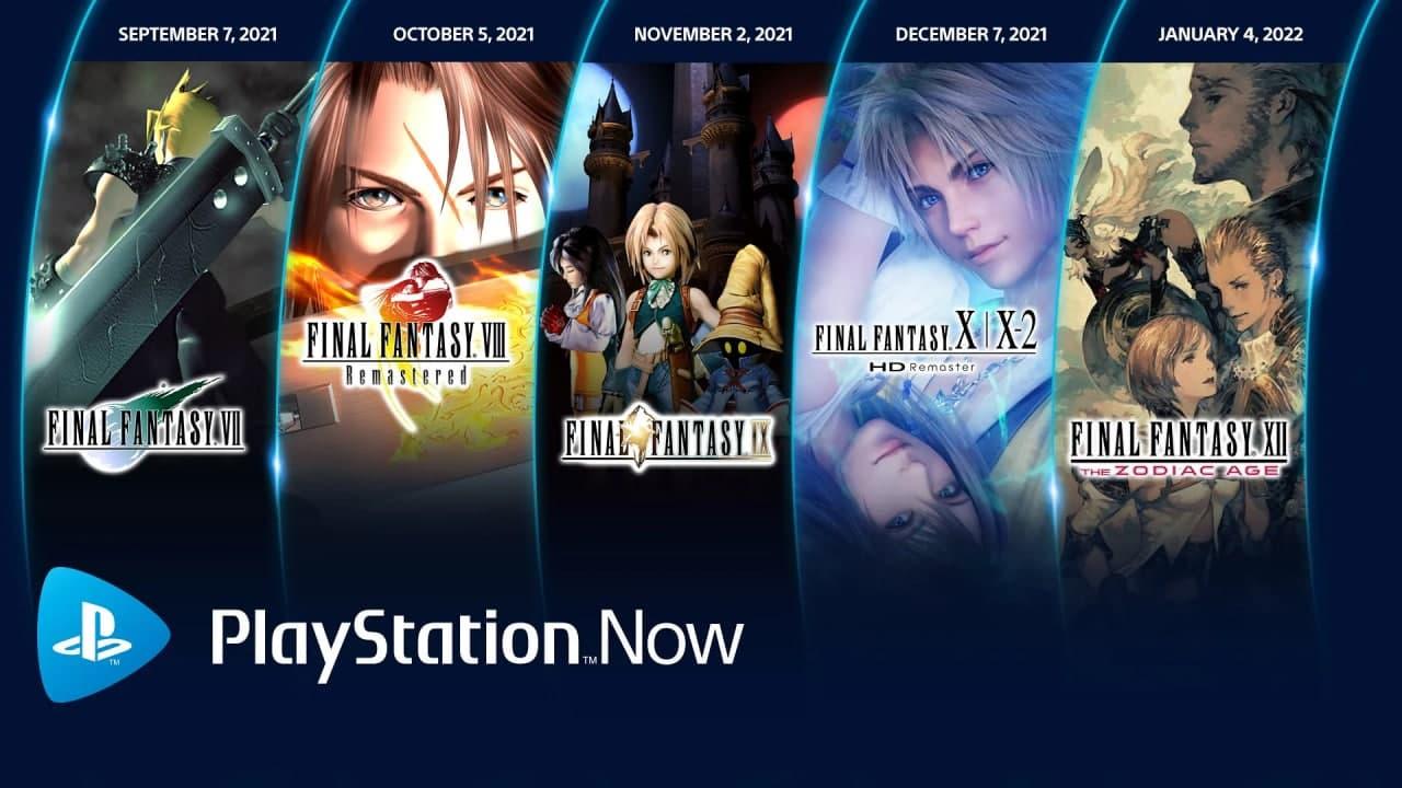 پنج بازی Final Fantasy در دسترس کاربران PS Now قرار میگیرد