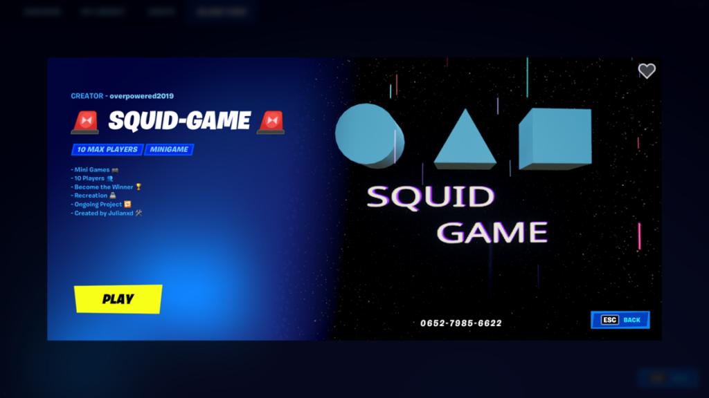سریال Squid Game در بازی فورتنایت (Fortnite)