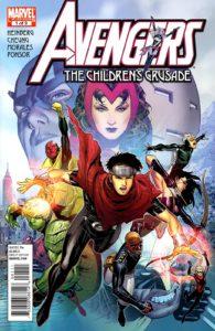 کاور شماره ۱ کمیک Avengers: The Children's Crusade (برای دیدن سایز کامل روی تصویر کلیک کنید)
