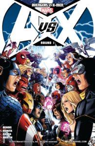 کاور شماره ۱ کمیک Avengers vs. X-Men (برای دیدن سایز کامل روی تصویر کلیک کنید)
