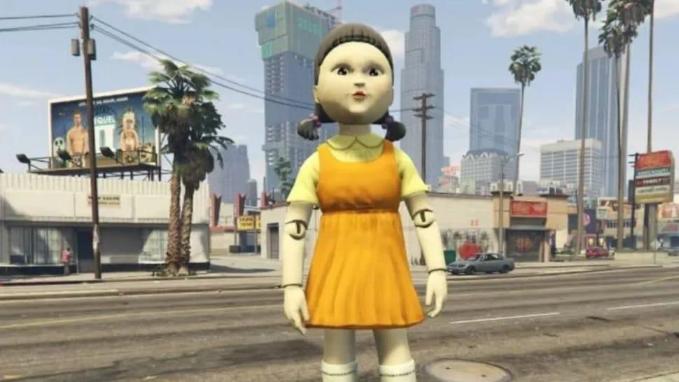 سرورهای GTA V پر از عروسک Squid Game شده است